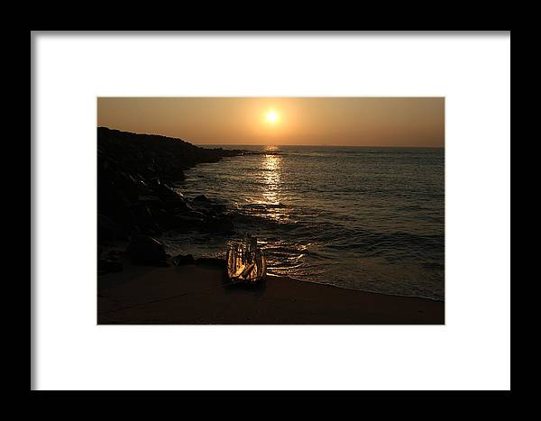Sea Framed Print featuring the photograph Sunrise by Prakash Chidambaram
