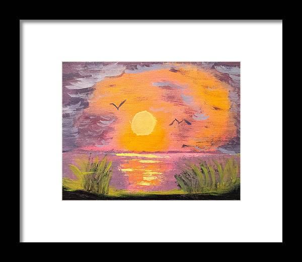 Sunrise Framed Print featuring the painting Sunrise by Scott Ashworth