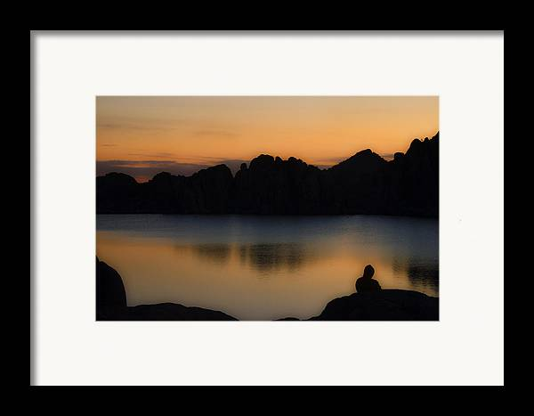 Sunrise Framed Print featuring the photograph Sunrise Solitude by Dave Dilli