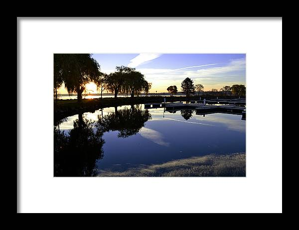 Sunrise Framed Print featuring the photograph Sunrise Stillness by Lyle Crump