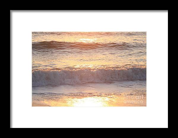 Waves Framed Print featuring the photograph Sunrise Waves by Nadine Rippelmeyer