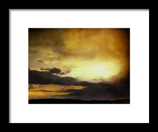 Sunset Framed Print featuring the painting Pouzol Sunset 92 X 122cm by Thomas Darnell