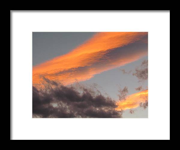 Sunset Framed Print featuring the photograph Sunset after a worm day. by Joyce Woodhouse