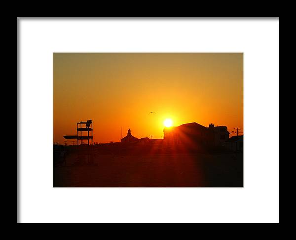 Cape Cod Framed Print featuring the photograph Sunset At Covells by David DeCenzo