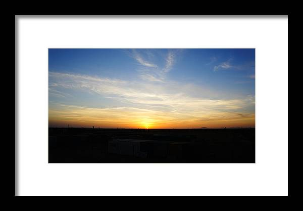 Sunset Framed Print featuring the photograph Sunset At Darfur by Dyan Vicky Sandhi
