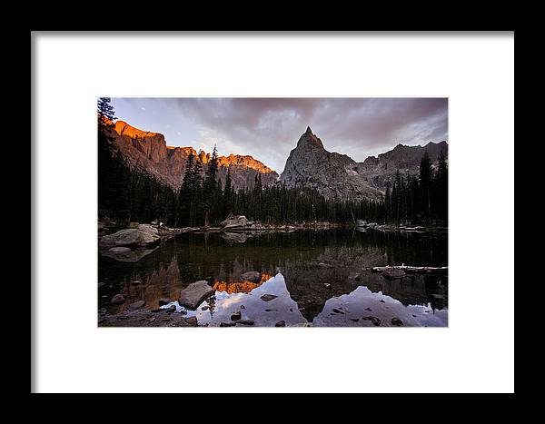 Landscape Framed Print featuring the photograph Sunset At Lone Eagle by Steven Reed