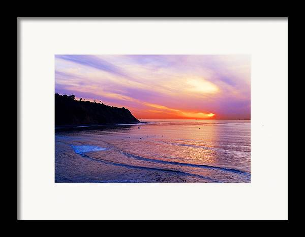 Sunset At Pv Cove Framed Print featuring the photograph Sunset At Pv Cove by Ron Regalado