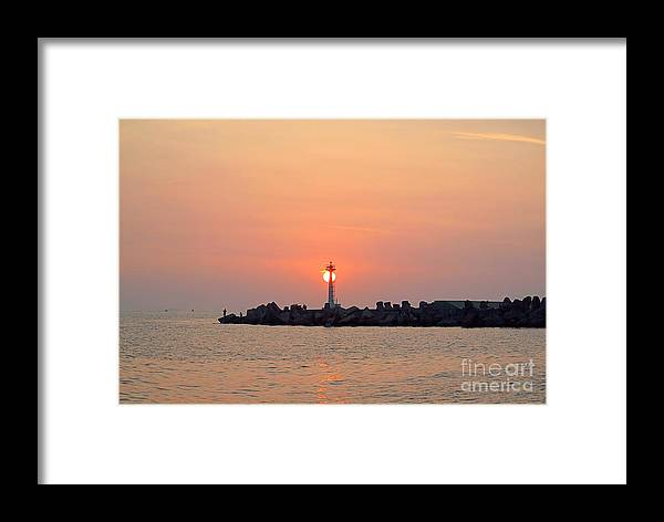 Sunset Framed Print featuring the photograph Sunset At The Pier by Yali Shi