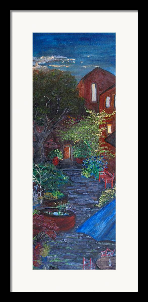 Villa Framed Print featuring the painting Sunset At The Villa by Dixie Adams