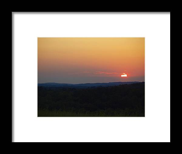 Sunset Framed Print featuring the photograph Sunset at Waupaca Wisconsin by Thomas Young