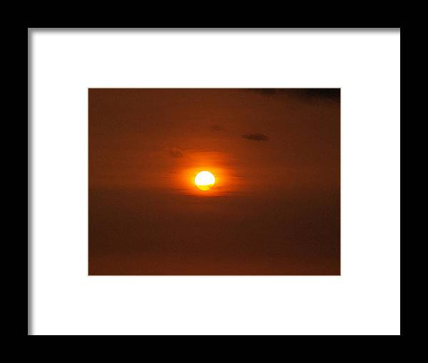 Sunset Photographs Framed Print featuring the photograph Sunset by Athala Carole Bruckner