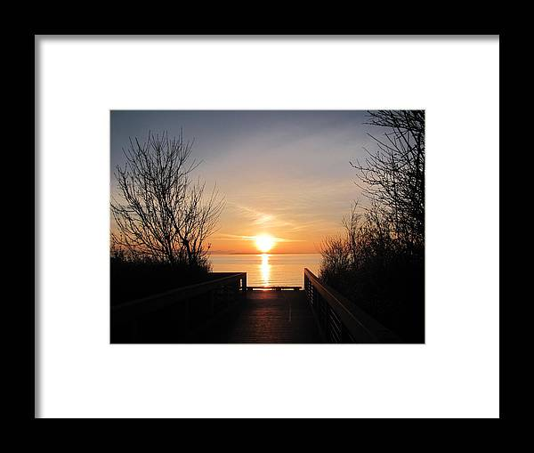 Ocean Framed Print featuring the photograph Sunset by Blanca Braun
