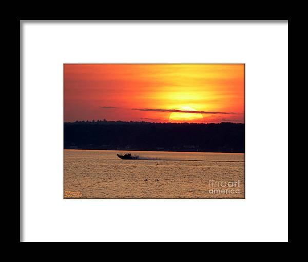 Landscape Framed Print featuring the photograph Sunset Boat Ride by Rennae Christman