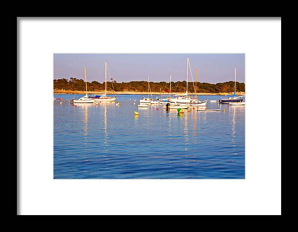 Boats Framed Print featuring the photograph Sunset Boats by Galexa Ch