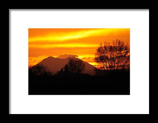 Sunset Framed Print featuring the photograph Sunset by Brian Wartchow