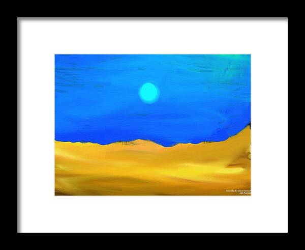 Sunset Framed Print featuring the painting Sunset By The Ocean Inverted by Julio Fuentes