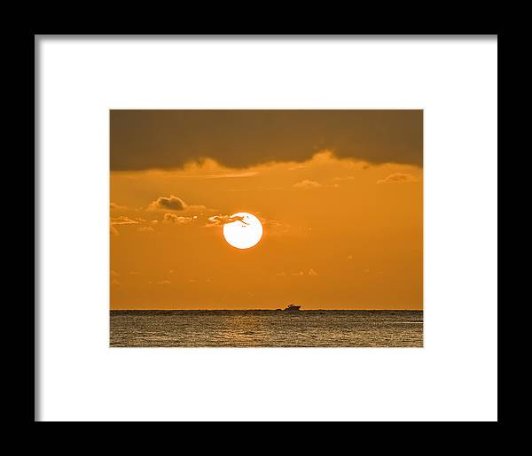Sunset Framed Print featuring the photograph Sunset Cruise by Patrick M Lynch