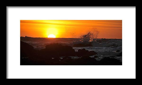 Sunset Framed Print featuring the photograph Sunset During Low Tide At Fitzgerald Marine Preserve by Scott Lenhart