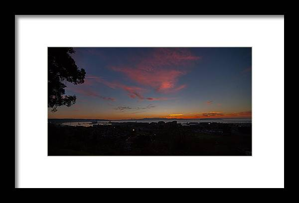 Framed Print featuring the photograph Sunset Everett Harbor by Patrick Forster