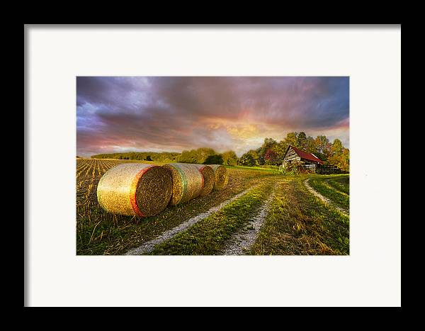 Appalachia Framed Print featuring the photograph Sunset Farm by Debra and Dave Vanderlaan