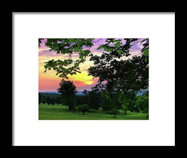 Sunset Framed Print featuring the photograph Sunset Golf Course by Mark Dottle