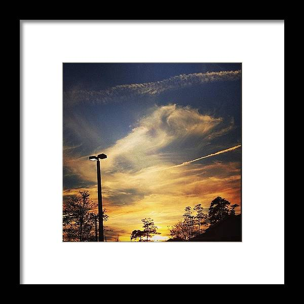 Nature Framed Print featuring the photograph #sunset #gorg #nature by Colleen Morrison