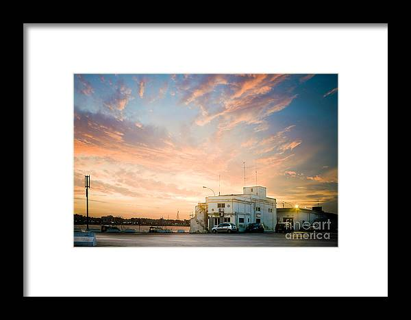 Sky Framed Print featuring the photograph Sunset In Bari by Gabriela Insuratelu