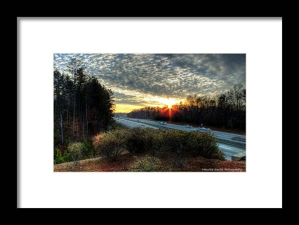 Landscape Framed Print featuring the photograph Sunset In Charlotte #3 by Maurice Smith