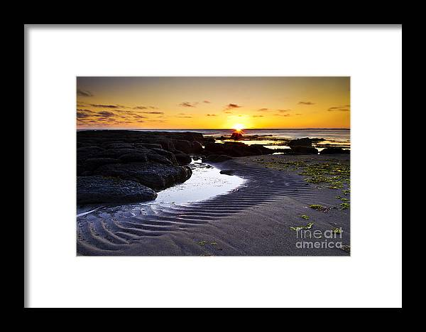 Sunset Framed Print featuring the photograph Sunset In Iceland by Gunnar Orn Arnason