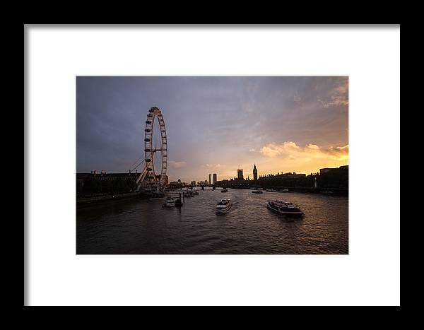 Westminster Framed Print featuring the photograph Sunset In London by Dawn OConnor