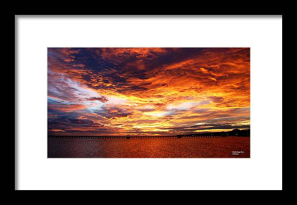 Sunset Long Beach Ms Framed Print featuring the photograph Sunset In Long Beach Ms by Teresa Parker