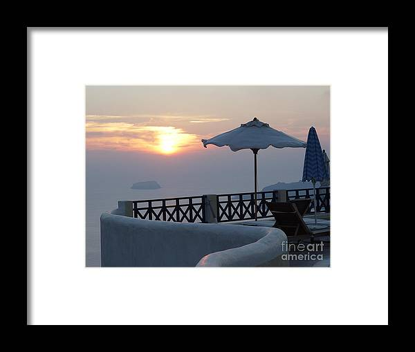 Sunset Framed Print featuring the photograph Sunset In Santorini by Nancy Bradley