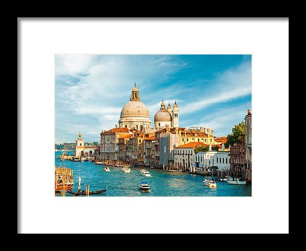 Bell Framed Print featuring the photograph Sunset In Venice by Gurgen Bakhshetsyan