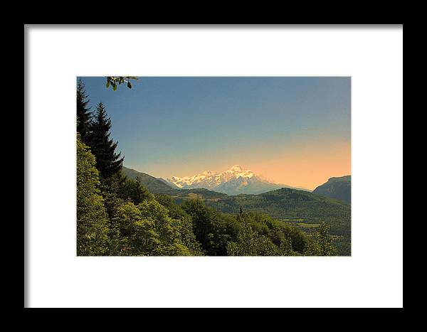 Landscape Framed Print featuring the photograph Sunset by Joel Lim
