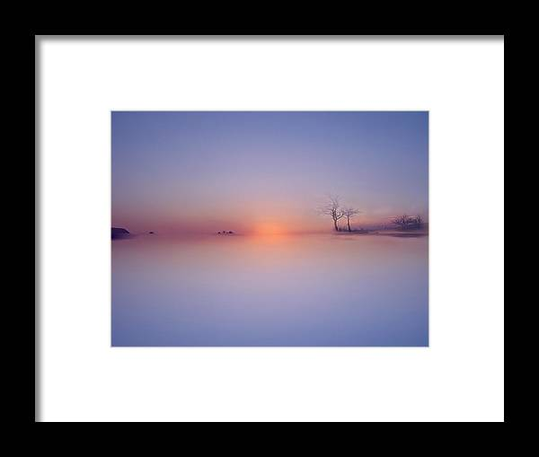 Water Framed Print featuring the photograph Sunset by Ljubinka Lepojevic