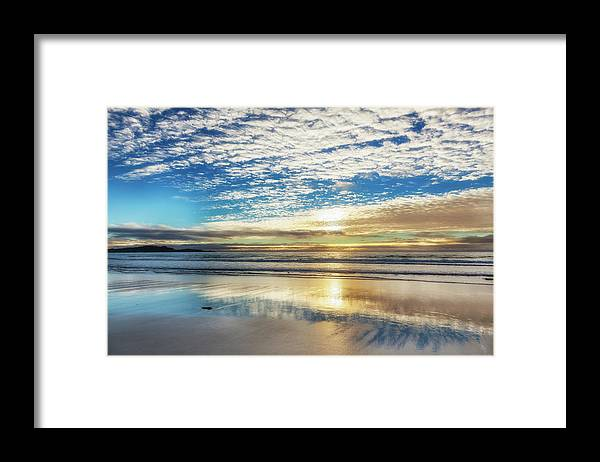 Tranquility Framed Print featuring the photograph Sunset On Carmel Beach, California by Alvis Upitis