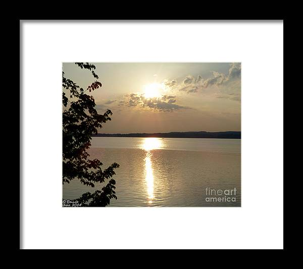 Sun Framed Print featuring the photograph Sunset On Delta Lake by Rennae Christman