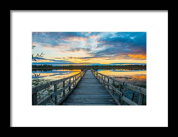 Lake Framed Print featuring the photograph Sunset on Lake Sixteen by Paul Johnson