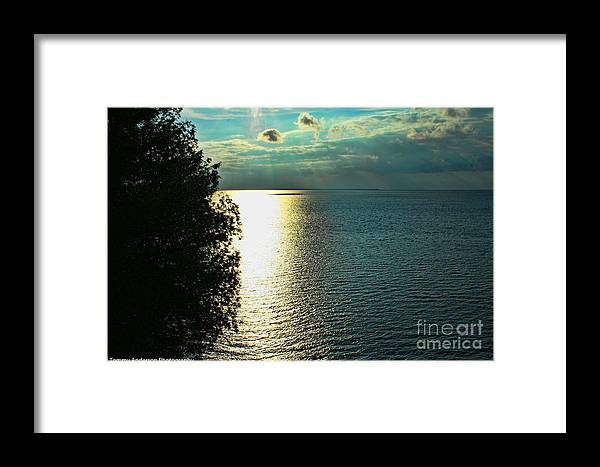 Sunset Framed Print featuring the photograph Sunset On The Bay Of Green Bay Wi by Tommy Anderson