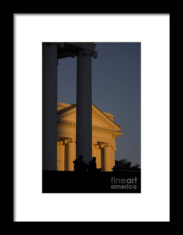 Richmond Framed Print featuring the photograph Sunset On The Capital Lawn by Debra K Roberts