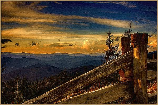 Sunset on Top of Mount Mitchell by John Haldane