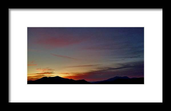 Framed Print featuring the photograph Sunset Over Hominy Valley by Hominy Valley Photography