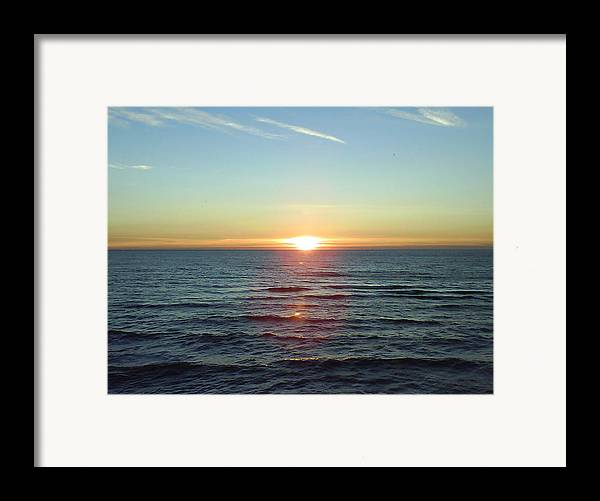Sunset Over Sea Framed Print featuring the photograph Sunset Over Sea by Gordon Auld