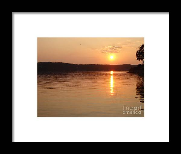 Landscape Framed Print featuring the photograph Sunset Over The Lake by Aimee Vance
