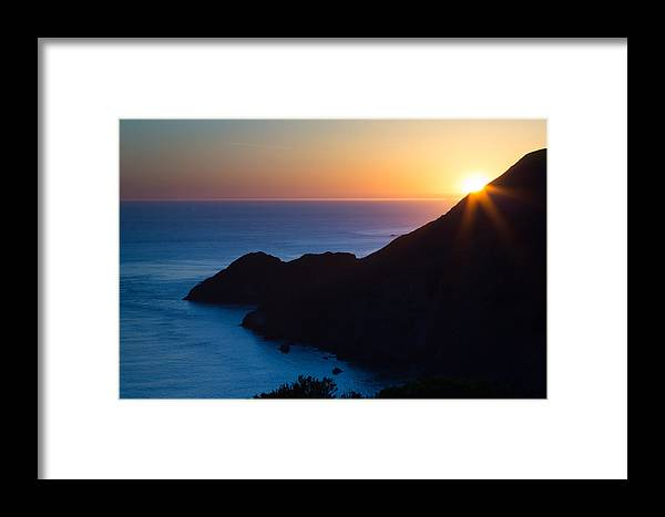 Golden Gate Framed Print featuring the photograph Sunset Over The Pacific by Larry Fry