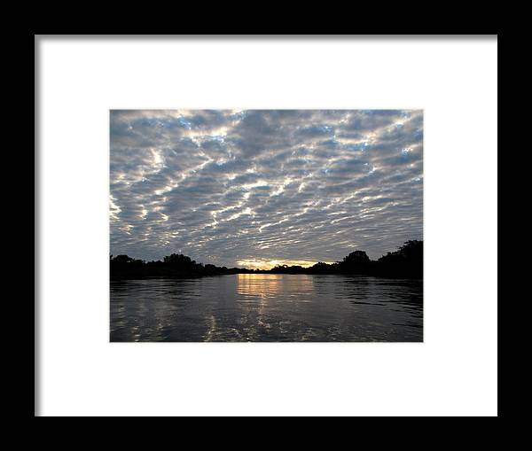 Water Framed Print featuring the photograph Sunset Over Water by Elizabeth Hardie