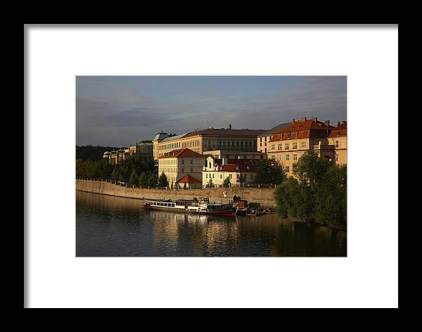 Landscape Framed Print featuring the photograph Sunset River View by Robert Seidman