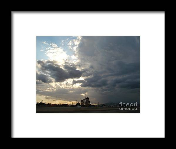 Sunset Runway Framed Print featuring the photograph Sunset runway by De La Rosa Concert Photography