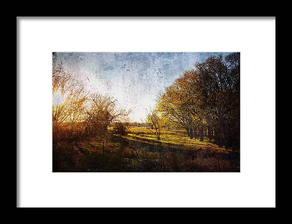 Sunset Framed Print featuring the photograph Sunset Rural Oklahoma by Toni Hopper