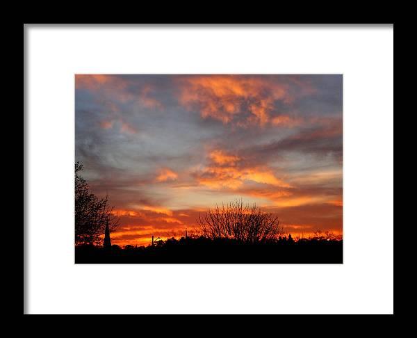 Sky Framed Print featuring the photograph Sunset Silhouette by Amanda Struz